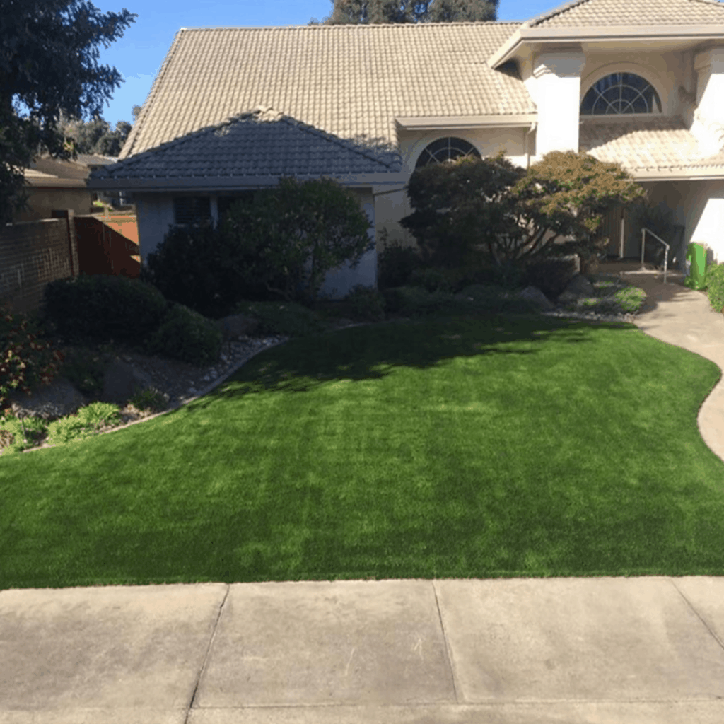 Artificial Grass in front yard lodi ca